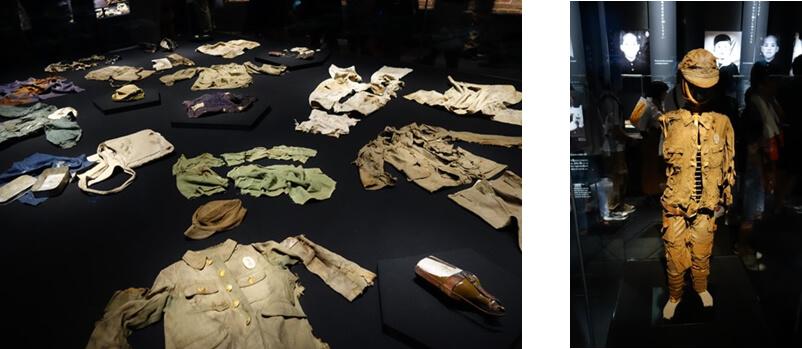 被爆した子供たちの遺品の数々