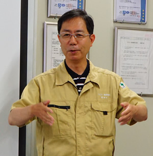 マスコー製紙(株) 増田社長