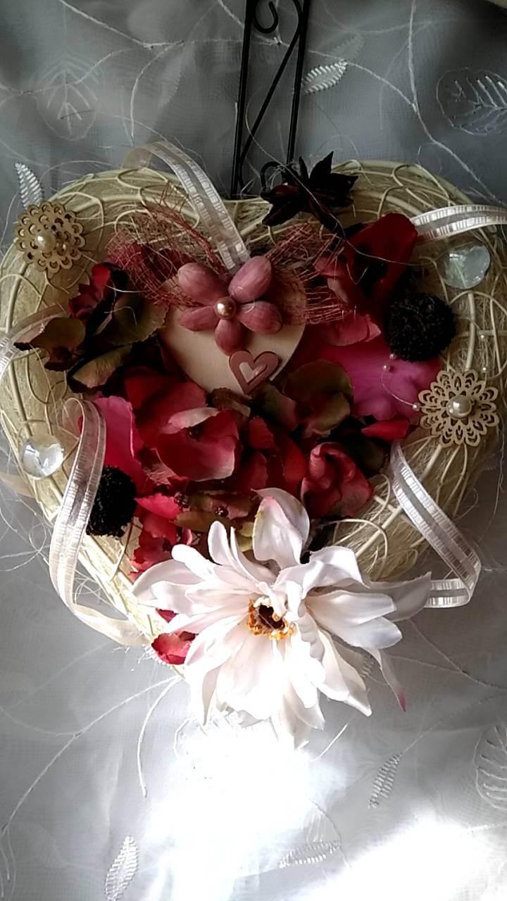 バレンタインフラワーリース