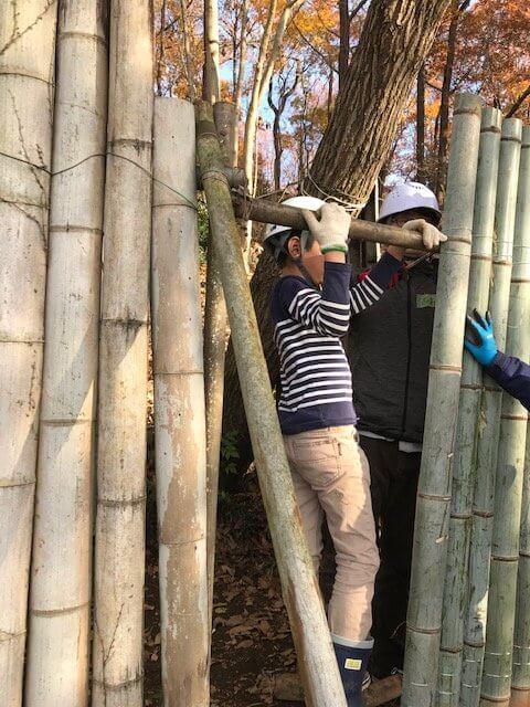 竹垣を手作り!里山なかま12月