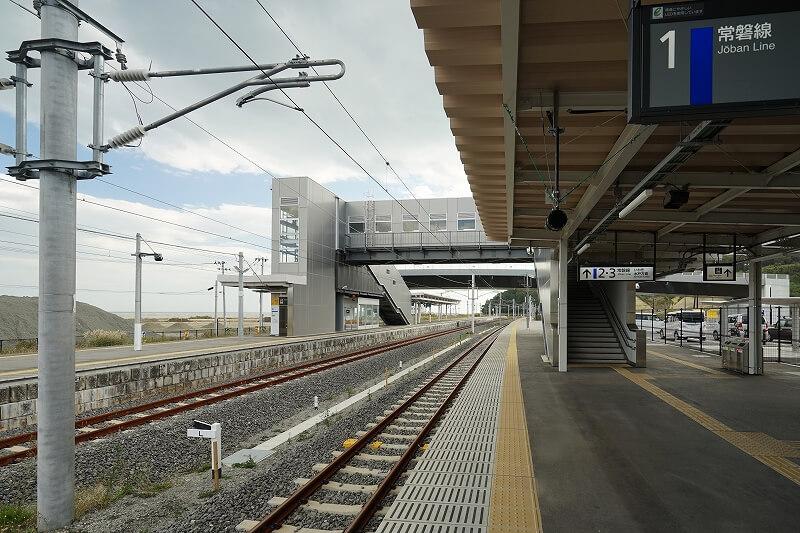 震災後新設されたJR富岡駅