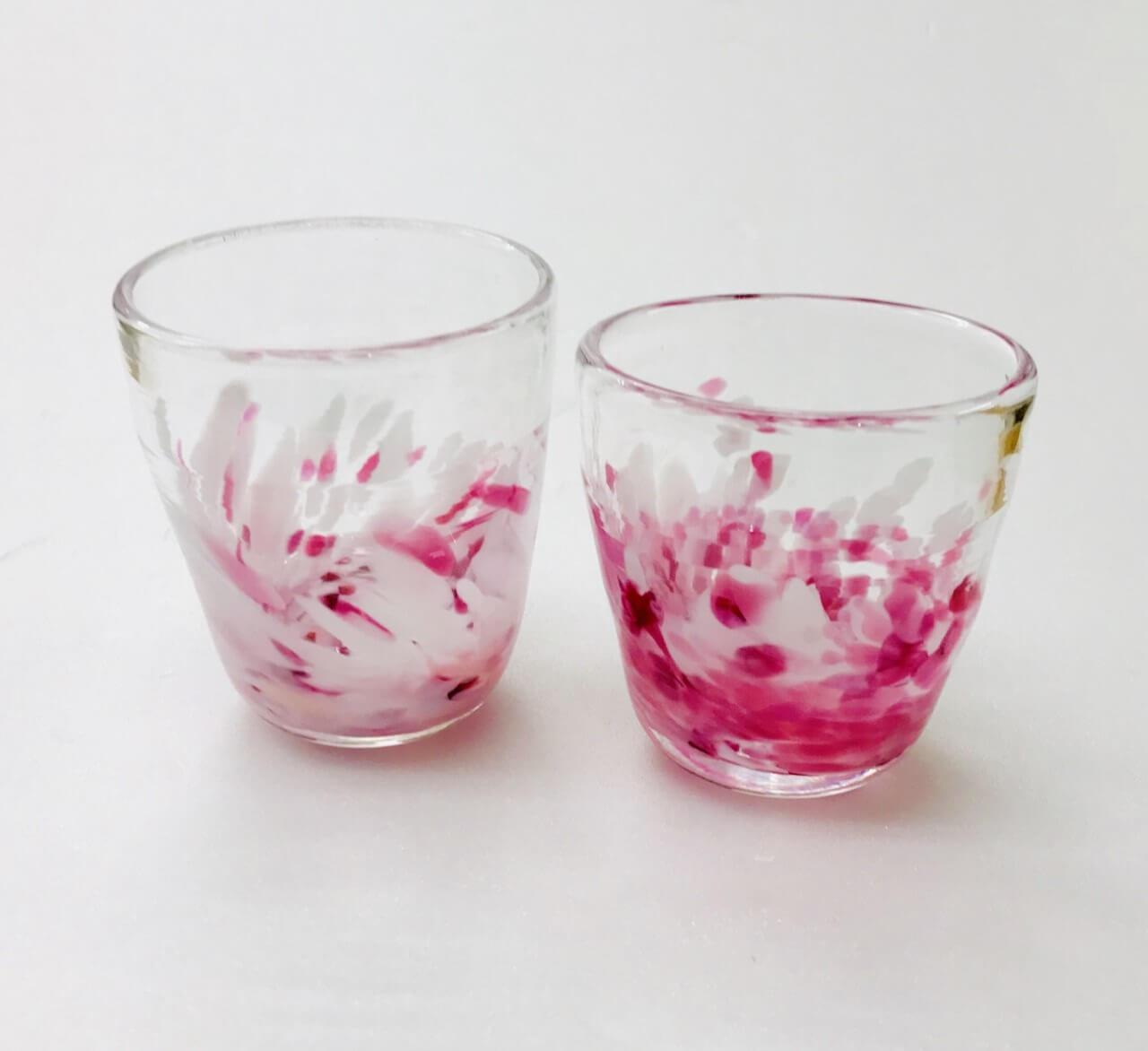 親子で吹きガラス体験 桜色華やぎグラスを作ろう♪