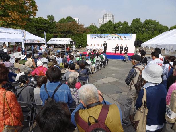 各団体代表からの挨拶、演奏(二胡、ウクレレ、ジャズなど)、日本舞踊などが披露されました