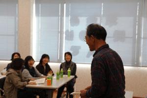 復興には若い市民、特に女性のアイディアが必須と語る木田氏(有機農業生産者)