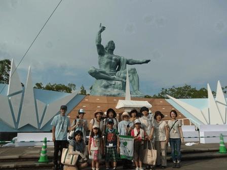 8/7~8/9 ナガサキ平和ツアー 「平和公園」にて