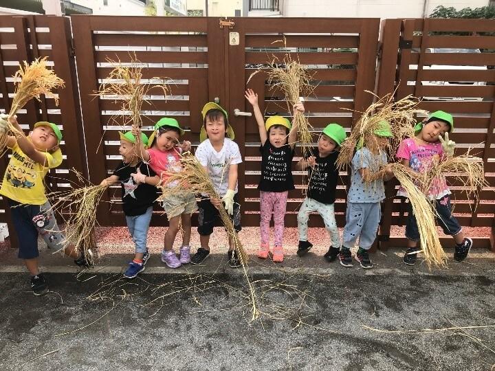 「おいしいお米にな~れ!」 | ぱる★キッズ足立でバケツ稲の脱穀と籾摺りの「お米の出前授業」を実施しました