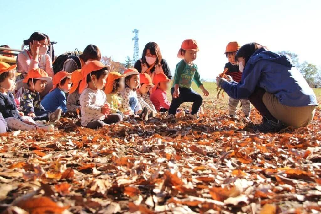 クシュクシュ落ち葉で何して遊ぶ? 身近な公園で「自然の宝庫」を満喫しよう!| ぱる★キッズ府中の自然遊び