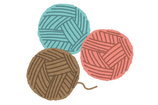 アフガン編みで作る四角モチーフ作り