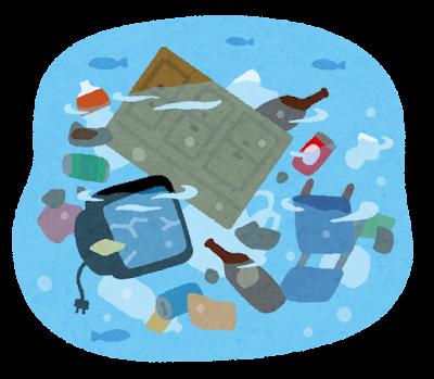 プラスチックが川から海へ
